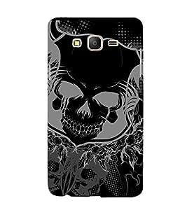 Fuson Designer Back Case Cover for Samsung Galaxy On5 (2015) :: Samsung Galaxy On 5 G500Fy (2015) (Skull With Teeth Open Smiling Skull Smiling Skeleton Lovely Skeleton Skeleton with Eyes Open)