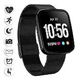 Fitness Armband-uhr, Bluetooth Smartwatch Sport Wasserdicht Fitness Tracker Schrittzähler Herzfrequenzmesser Schlaftracker für iPhone X,iPhone 7/7 Plus/8/8 Plus, Samsung S8/S8 Plus/S9/S9 Plus, Huawei P20, Xiaomi Andere Smartphone