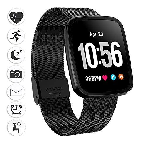 Fitness uhr herren,Miya Wasserdicht Fitness Tracker Armband Herzfrequenzmesser Intelligente Sport Uhr Bracelet Bluetooth Smartwatch Schrittzähler für Kinder, Frauen und Männer