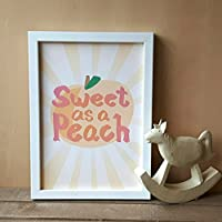 Sweet As A Peach Print (A5 & A4) Nursery, Children's room, home decor