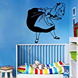 Cczxfcc Vinyl Aufkleber Abnehmbare Wandtattoo Alice Im Wunderland Mädchen Zimmer Aufkleber Schlafzimmer Dekor Tapete Prinzessin Wand Kunst Wandbild 57 X 60 Cm