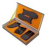 MagiDeal 5pcs Masaje de Raspado de Cuerpo Completo de Guasha Masajeador Trasero de Punto de Disparador de Cuello