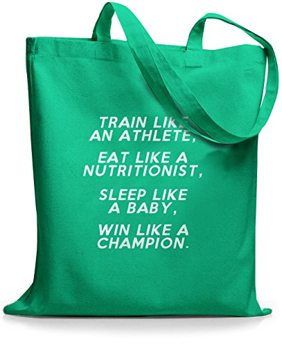 StyloBags Jutebeutel / Tasche Train like an Athlete Mint