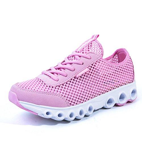 schwarz/Pink Laufschuhe Schnürsenkel Stil turnschuhe