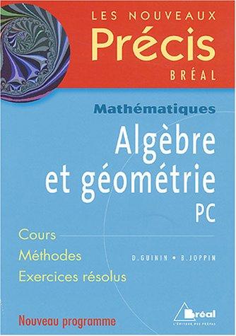 Algèbre et géométrie PC