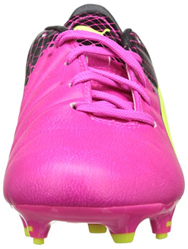 Puma Evopower 3.3 Tricks Fg Jr, Chaussures de football mixte enfant Rose (Pink Glo/Safety Yellow/Black)