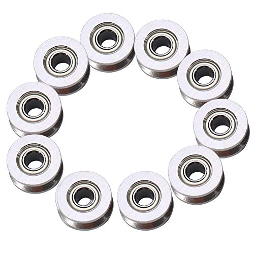 Polea de rodamiento de Bolas con Ranura en V, 10 Piezas V624ZZ, para Sistema de Movimiento Lineal de riel 4 * 13 * 6 mm
