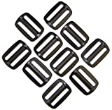 Schieber Stopper 20 mm Kunststoff schwarz Verschiedene Mengen. (10 Stück)
