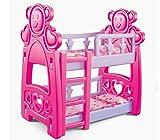 Puppenbett mit zwei Etagen und Bettwäsche