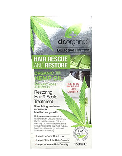 Dr. Organic Rétablir Restructuration Mousse pour les Cheveux/Peau au huile de Chanvre Bio 150 ml