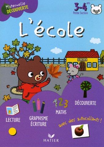 L'école avec Gaston l'ourson 3-4 ans Petite Section
