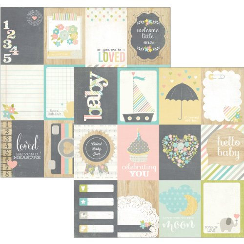 Hello Baby Double-Sided Elements Cardstock 12