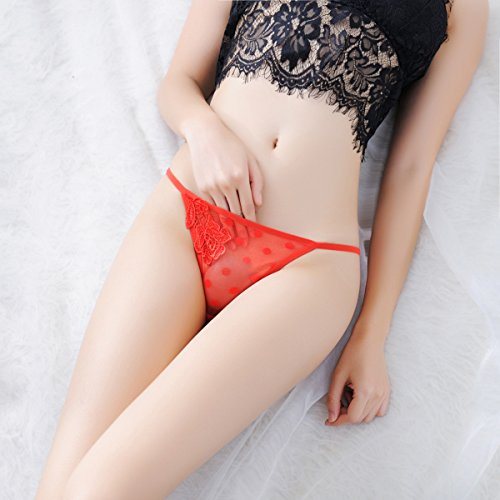 XBR Low Rise Tanga Dessous Sexy String Panty Taille transparent Dots., F (Dot Panty Low Rise)