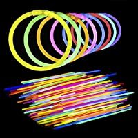 "Lumistick 8"" Brand Glowsticks Glow Stick Bracelets Mixed Colors (Tube of 100)"