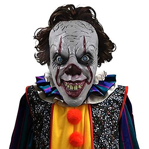 Horrormaske Masque d'horreur en Latex Pour Robe de soirée de Costumes d'halloween Cosplay@Style-2,Gruselige - Kind Braune Robe Kostüm