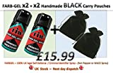 Penal ID Spray/Self Defence Spray X2 con x2 hecho a mano negro Bolsa de transporte …