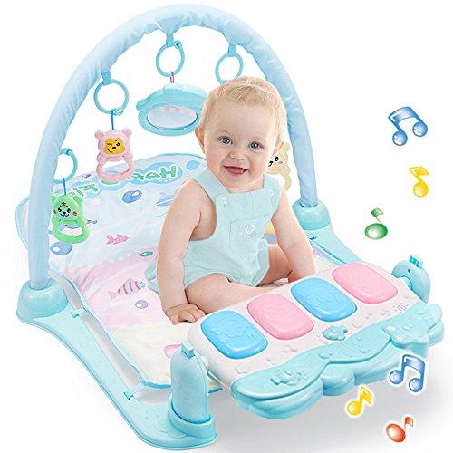 littledi Baby Fitness Rack Fuß Piano Spiel Decke mit Musik Neugeborenen Baby 0–12Monate Fitness Rack