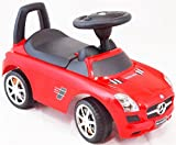 Baby Musical Ride on Push along Car - Mercedes-Benz (Red)