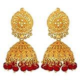 Tsquare Gold-Plated Jhumki/Jhumka Earrin...
