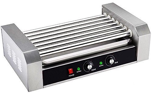 Portable Stainless Commercial 18 Hot Dog 7 Roller Grilling Machine Home Business by Electric Contact Grills