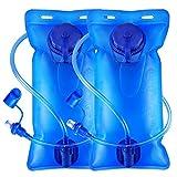 Icetek Lot de 2 Sacs à Eau de Sport sans BPA étanche avec Valve Auto-bloquante pour...