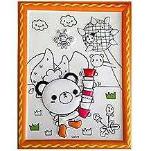 Fai da te Kids Dipingendo Tavolozza da colorare Concavo-Convex Drawing Pad con penne [Panda]