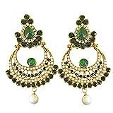 Suratdiamond Green & White Stone & Shell...