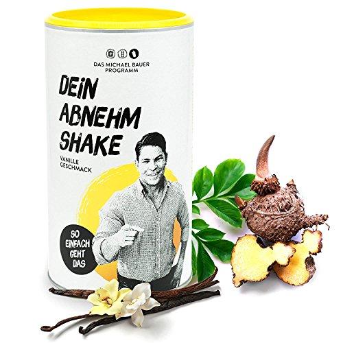 Diät-Drink als Nahrungsergänzung für Gewichtsverlust und zur Fettverbrennung | Protein-Shake zum Fett abnehmen | Schlank ohne Sport mit DEIN ABNEHMSHAKE von MICHAEL BAUER | Bekannt aus dem TV (Vanille)
