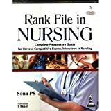 #10: Rank File In Nursing Complete Preparatory Guide For Various Competitive Exams/Interviews In Nursing