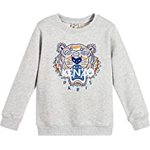 5f03b868a3f Kenzo Kids Sweat-Shirt Gris 42 Tiger