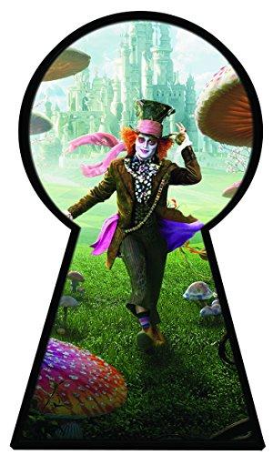 Alice in Wonderland 2Alice Through the Looking Glas voller Farbe Magic Fenster Schlüsselloch Bild Wandtattoo Wandbild Poster Größe 1000mm breit x 600mm tief (groß) V011 (Schlüsselloch Alice)