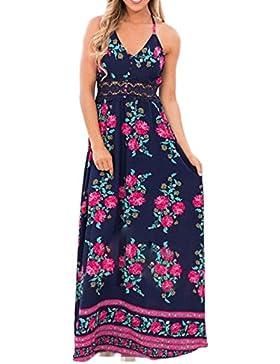 Impresión Vestido Vestido De Playa Halter