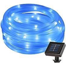 LE Cavo luminoso 5m Impermeabile 50LED, Luci Solari Colore Blu - Corda Angolo
