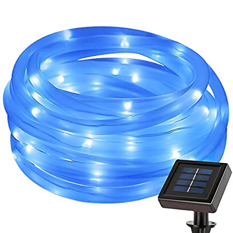 LE 50 LEDs Solar Rope Lights, 5M Waterproof Outdoor Path Lights, Blue, LED String Light (Corda Solare)