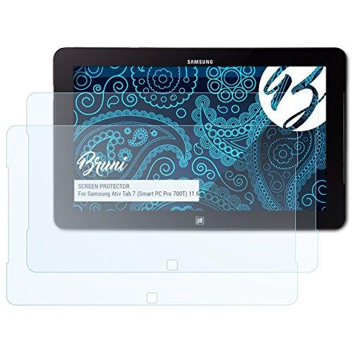 Bruni Schutzfolie für Samsung Ativ Tab 7 (Smart PC Pro 700T) 11.6 Inch Folie, glasklare Displayschutzfolie (2X) (Samsung Ativ Pc Pro)