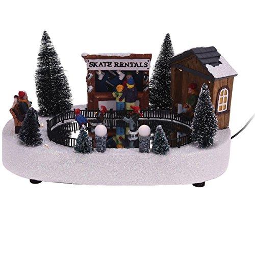 Weihnachtsszene LED Buden Markt Weihnachten Winter Schnee Glitzer Schlittschuh, Modell / Charakter:Schlittschuhverleih_SkateRentals