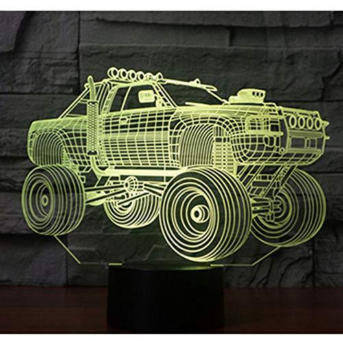Geführtes Nachtlicht 3D Panzer Suv Panzerwagen mit 7 Farben Licht für Heimtextilien Lampe Erstaunliche Visualisierung Off-Road
