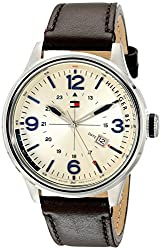 Tommy Hilfiger Mens 1791102 Casual Sport Analog Display Quartz Brown Watch