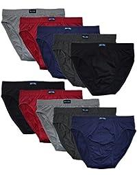 10 Sport Slips ohne Eingriff 100 % Baumwolle sehr Bequem Slip Brief Pant Slip Sexy Herrenslip Herren Slips 10 Pack Sparpack