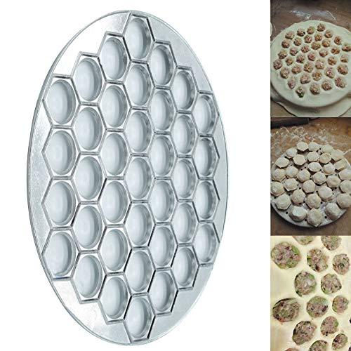 Verwenden Ravioli Maker (Ghair2 37 Löcher Mulde Maker Form, Aluminium-Legierung, Ravioli-Maker Mold Gebäck Dumpling Kitchen DIY Tools Pelmeni Dumpling Pie Ravioli Form Presse Form Maker Gebäck Werkzeug zum Kochen Backen)