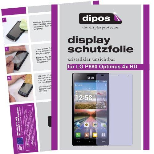 dipos Pellicola protettiva per LG P880 Optimus 4X HD (confezione da 2 pezzi) - cristallo pellicola di protezione del display
