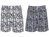 Spykar Mens White and Blue Combo Boxer Shorts - (Large)