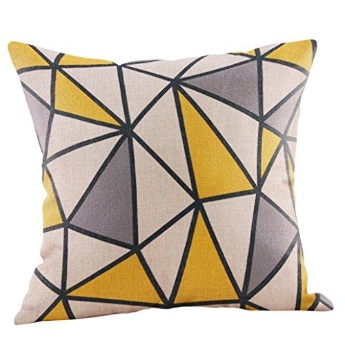 Mamum Housses de Coussin Decoration Oreiller Carré Taie d'oreiller Décoratif pour Sofa Maison Housse de Canapé Dessin Géométrique 45x45cm (B)