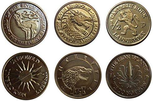 Le Trône de fer fer fer pièces de collection Half-Pennies of 6 Houses | Extravagant  d817f7