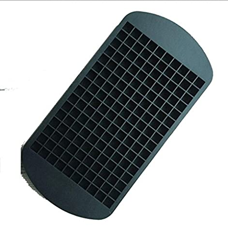 Ice Cubes Mould, 2 Stück Easy-Release Silikon Eis Würfel Trays, gefrorene Rechteck Silikon Tray Mould , black