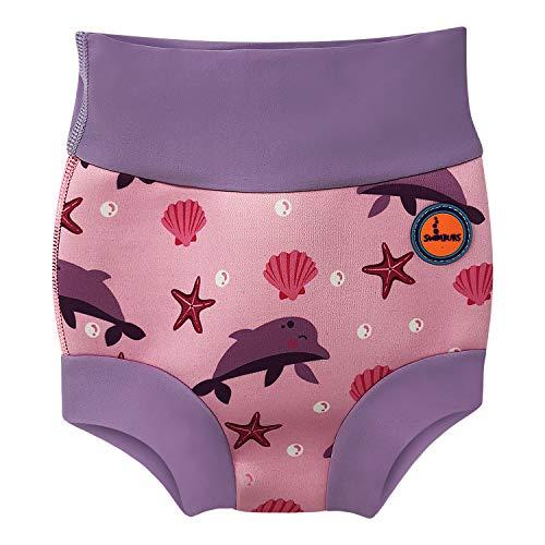 Baby Schwimmen Windel Kinder Wiederverwendbare Schwimmen Windel Mädchen Kostüm Jungen Schwimmen Shorts (24-36 Monate, Rosa Delphin)