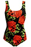 Enchanting Rose Skulls Gothic Swimsuit Bodysuit