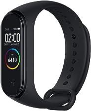 Xiaomi Band 4 Fitness Tracker, Schermo da 0,95 Pollici, a Colori, amoled, Funzione di monitoraggio del Ritmo Cardiaco, Impermeabile, Nero, 21,6 mm