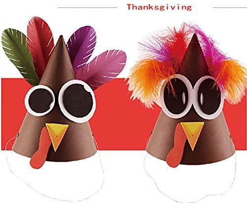 Oudan Türkei Hut Thanksgiving Türkei Kostüm Thanksgiving Halloween Kostüm Zubehör Geschenk DIY Für 3 Taschen (Farbe : -, Größe : C)