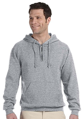 Jerzees 8 oz, 50/50 NuBlend Fleece Quarter-Zip Pullover Hood (994MR) OXFORD (Jerzees-fleece-oxfords)
